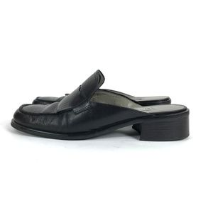 "Etienne Aigner ""ANNE"" Black Leather Loafers"